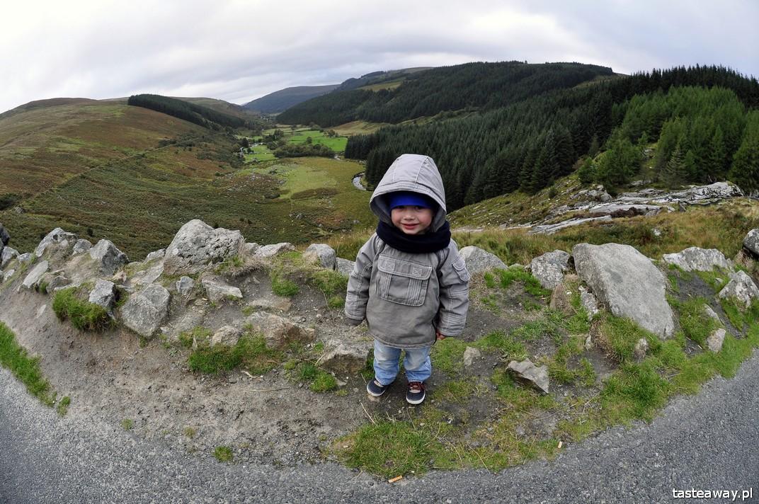 podróżowanie z dzieckiem, Irlandia, góry Wicklow