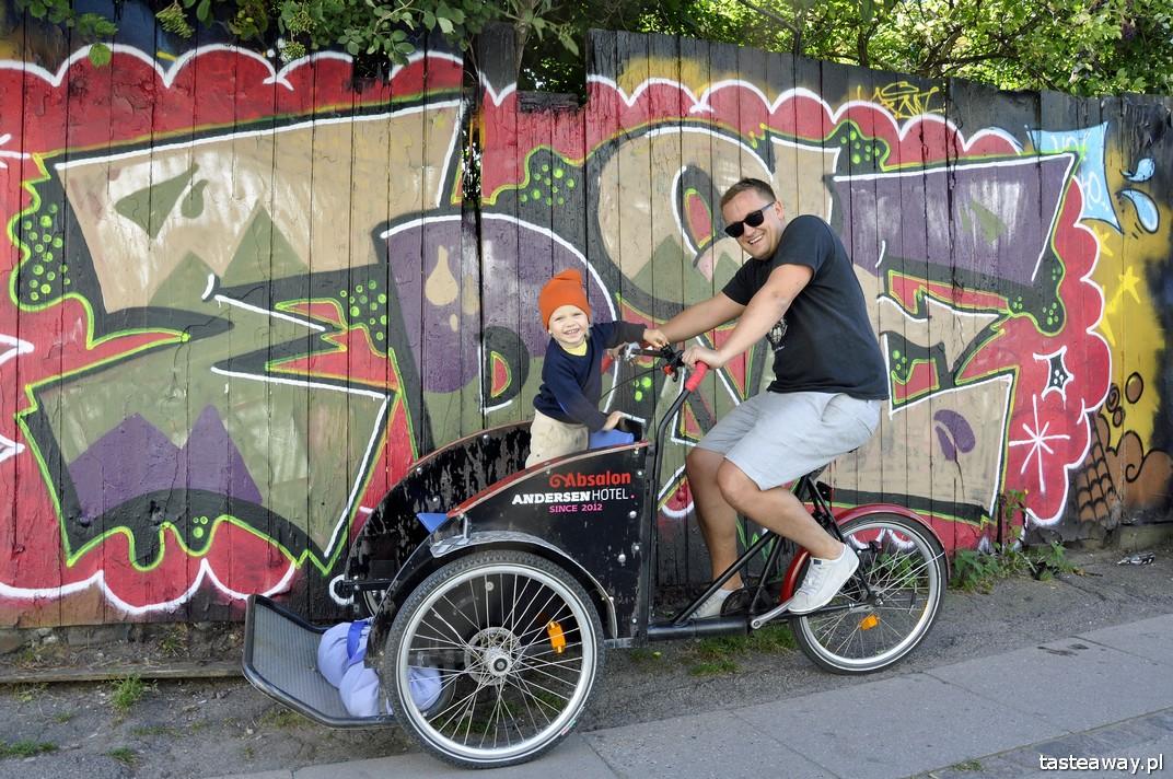 Kopenhaga, Dania, rowery, podróżowanie z dzieckiem, dziecko w podróży