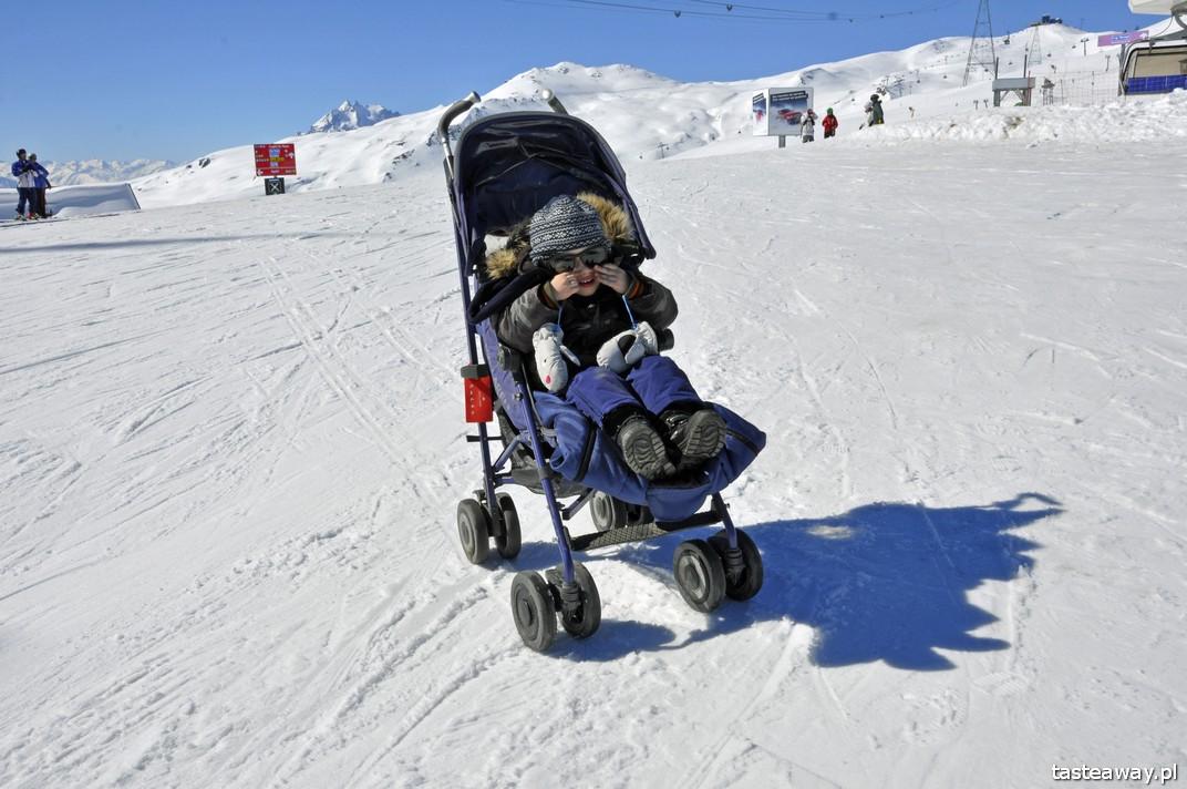 narty z dzieckiem, Szwajcaria z dzieckiem, Laax, podróżowanie z dzieckiem