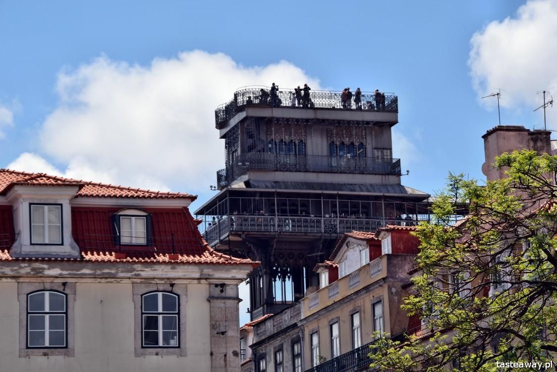 Lizbona, Portugalia, co zobaczyć w Lizbonie, atrakcje Lizbony, Elevador Santa Justa