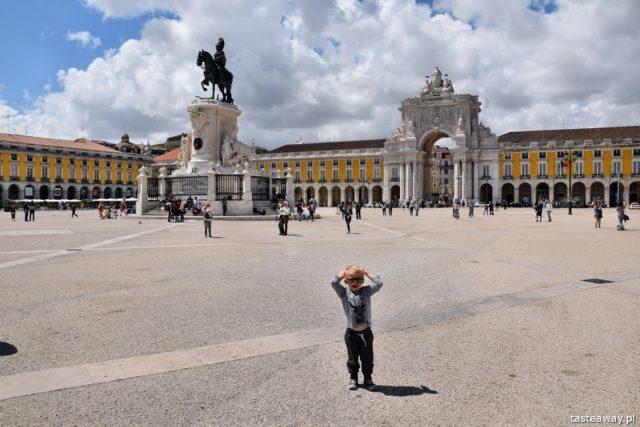 Lizbona, Portugalia, co robić w Lizbonie, co zobaczć w Lizbonie, Praca do Comercio, podróżowanie z dzieckiem