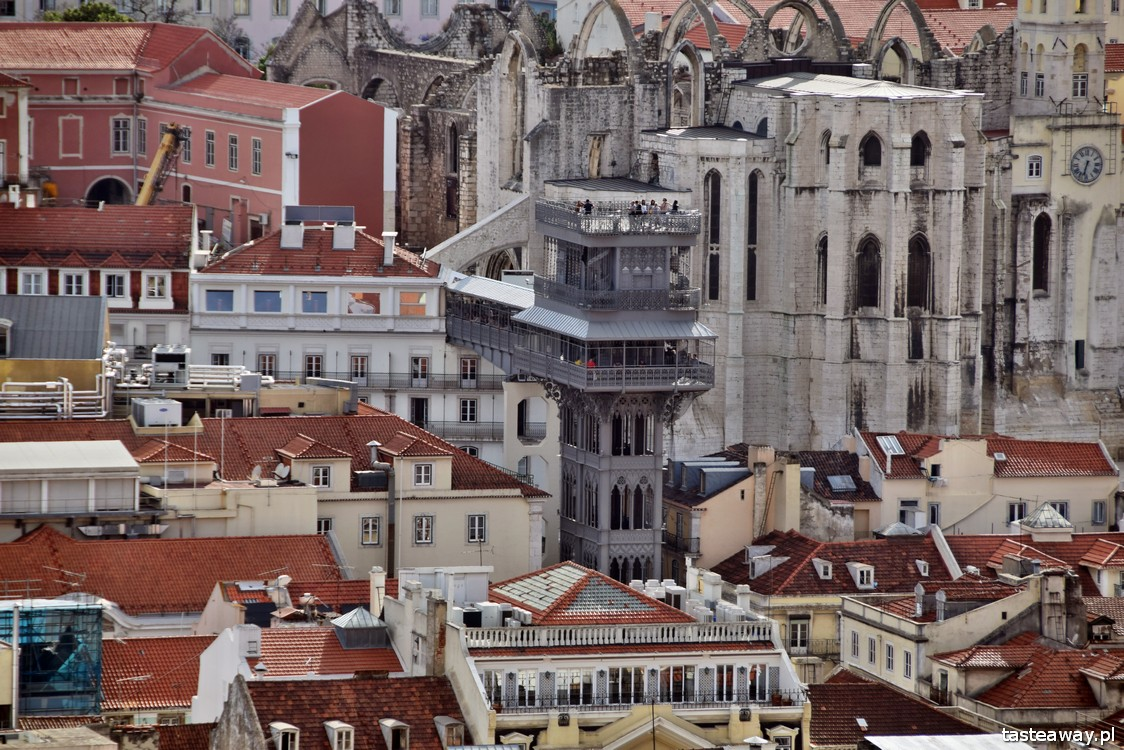 Lizbona, co zobaczyć w Lizbonie, atrakcje Lizbony, Portugalia, Elevador de Santa Justa