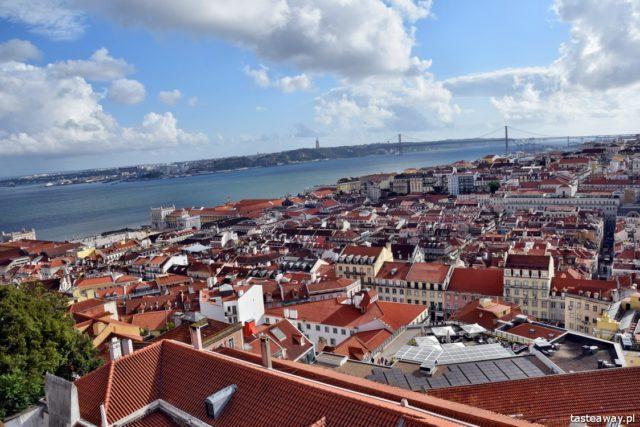 Lizbona, Portugalia, co zobaczyć w Lizbonie, atrakcje w Lizbonie, Castelo de Sao Jorge, panorama Lizbony