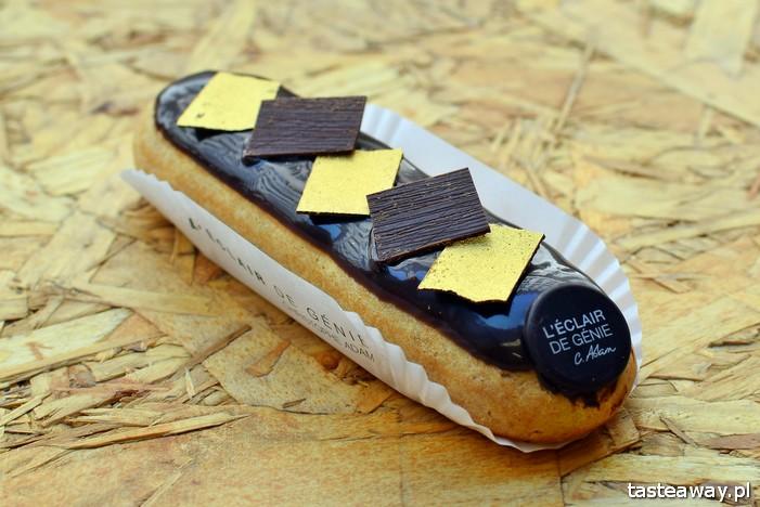 eklery, Paryż, najlepsze cukiernie w Europie, najlepsze cukiernie w Paryżu, cukiernictwo, L'Eclair de Genie, eclair, gdzie na eklerki w Paryżu, Christophe Adam, czekoladowy ekler