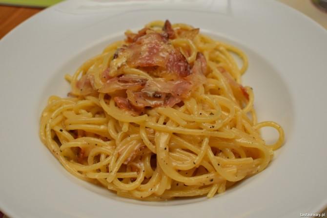 Carbonara, L'Olivo, kuchnia włoska, Warszawa, pizza, pasta