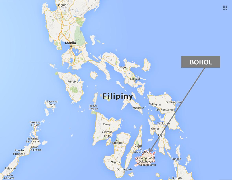 Filipiny, Bohol, wyspa Bohol