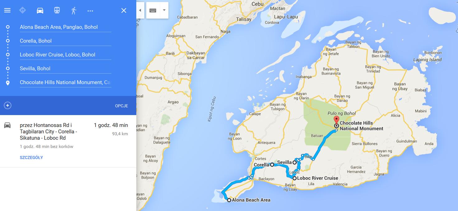 Bohol, Filipiny, co zobaczyć na Bohol, co zobaczyć na Filipinach, Bohol - trasa wycieczki