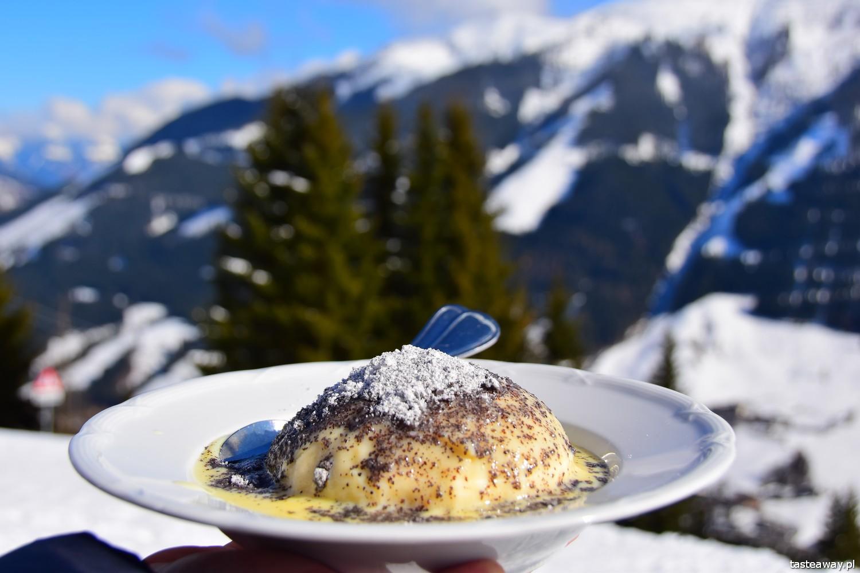kuchnia austriacka, Austria, Saalbach Hinterglemm, austriackie desery, germknodel, co jeść na stoku w Austrii