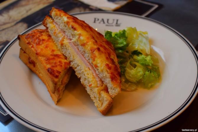 PAUL, kuchnia francuska, piekarnia francuska, Croque Monsieur, śniadanie w PAUL