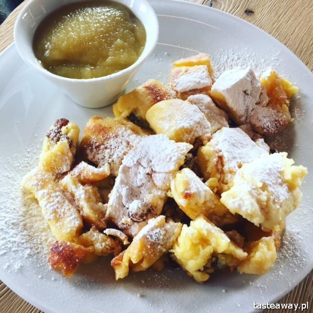 Kuchnia austriacka, Austria, Saalbach Hinterglemm, desery austriackie, kaiserschmarrn, omlet cesarski, , co jeść na stoku w Austrii
