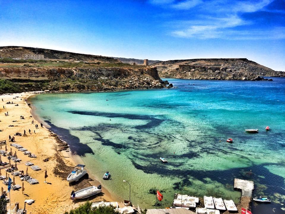 Malta, co robić na Malcie, co zobaczyć na Malcie, Golden Bay, atrakcje na Malcie