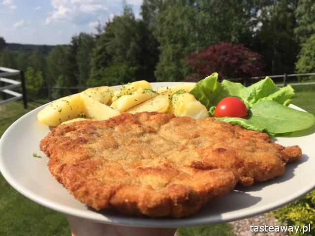 Gościniec na Wzgórzu, Stare Juchy, Mazurska Arkadia, Ełk, gdzie jeść na Mazurach, gdzie jeść w Ełku, Mazury, schabowy, polska kuchnia