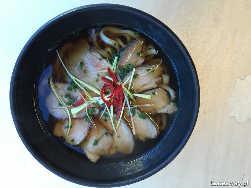 SATO gotuje, japońskie, Ochota, kuchnia japońska, udon z kaczką, udon z piersią kaczki