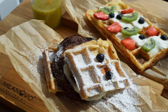 Mokotów, gdzie jeść na Mokotowie, restauracje Mokotów, gdzie na śniadanie, gdzie na lunch, gofry, Milanovo Bread Wine Cafe, śniadanie