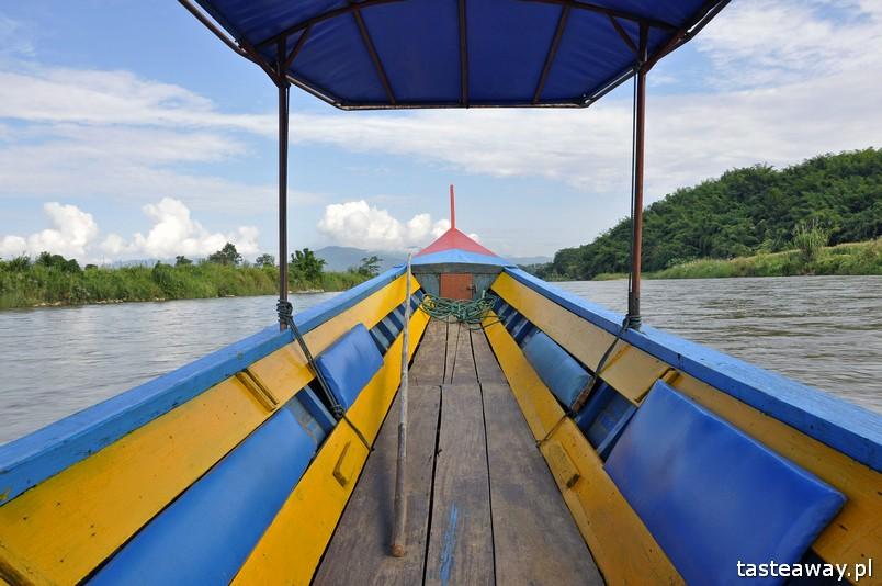 Tajlandia, co zobaczyć w Tajlandii, Chiang Rai, pólnoc Tajlandii, co zobaczyć na północy Tajlandii, longboat, rzeka Kok