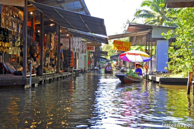 Bangkok, Tajlandia, co zobaczyć w Tajlandii, co zwiedzić w Tajlandii, co zobaczyć w Bangkoku, Damnoen Saduak, pływający targ, floating market