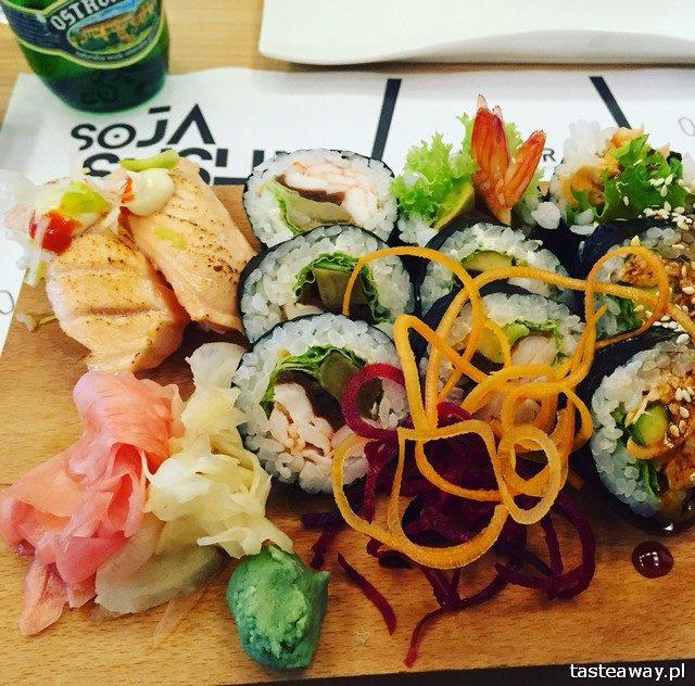 Soja Sushi, sushi, gdzie na sushi, Saska Kępa, co jeść na Saskiej Kępie, restauracje Saska Kępa