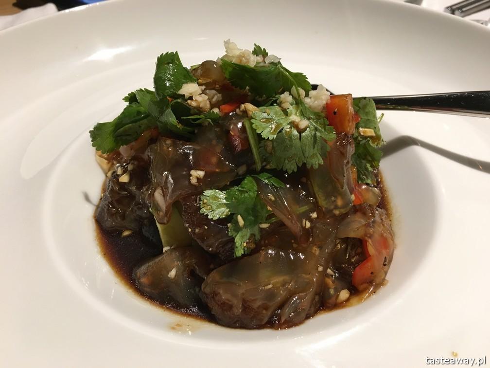 kuchnia chińska, kuchnia chińska w Warszawie, gdzie na chińska, nowe chińska, Pańska 85, meduza marynowana, sałatka z meduzy