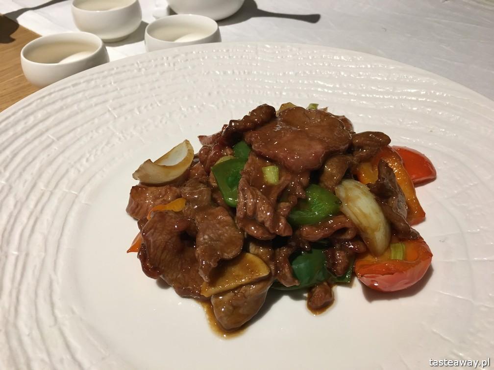 kuchnia chińska, kuchnia chińska w Warszawie, gdzie na chińska, nowe chińska, Pańska 85, wołowina