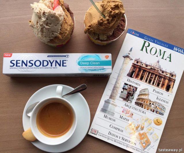 lody, kawa, gdzie najlepsze lody, gdzie najlepsza kawa, Rzym, Sensodyne, Sensodyne Deep Clean