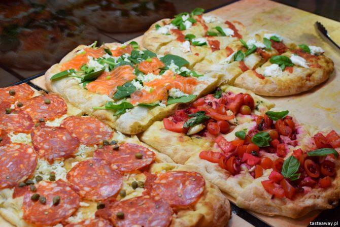 Noce i Dnie, targ, nocny targ, Burakowska 14, co robić w Warszawie, co robić w weekend, pizza na kawałki, Pizza Lunga