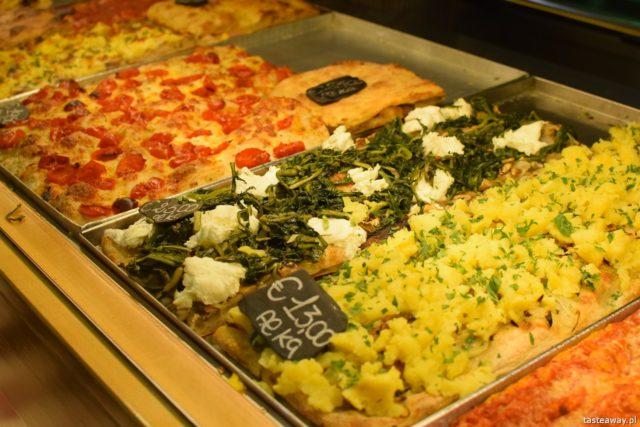 Pizzarium, Bonci, gdzie jeść w Rzymie, pizza na kawałki, gdzie na pizzę w Rzymie, Bonci,