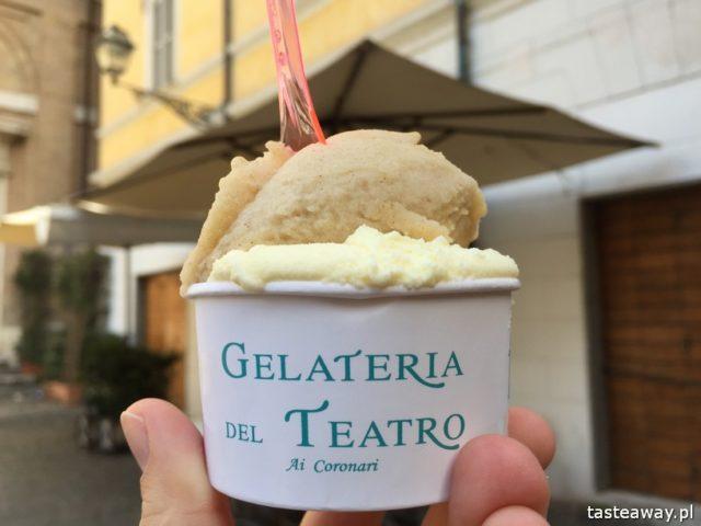 Rzym, lodziarnie w Rzymie, gdzie na lody w Rzymie, gdzie na kawę w Rzymie, najlepsze lody w Rzymie, najlepsza kawa w Rzymie, Sensodyne, Gelateria del Teatro