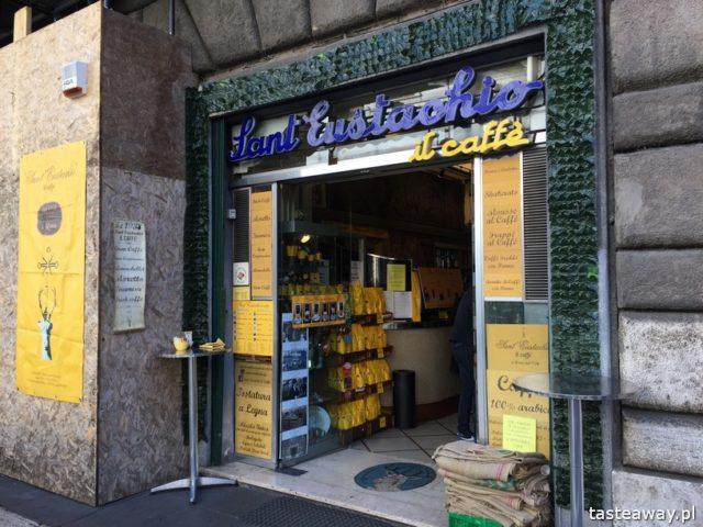 Rzym, lodziarnie w Rzymie, gdzie na lody w Rzymie, gdzie na kawę w Rzymie, najlepsze lody w Rzymie, najlepsza kawa w Rzymie, Sant Eustachio il Caffe