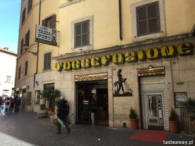 Rzym, lodziarnie w Rzymie, gdzie na lody w Rzymie, gdzie na kawę w Rzymie, najlepsze lody w Rzymie, najlepsza kawa w Rzymie, Sant Eustachio il Caffe, Taza D'oro