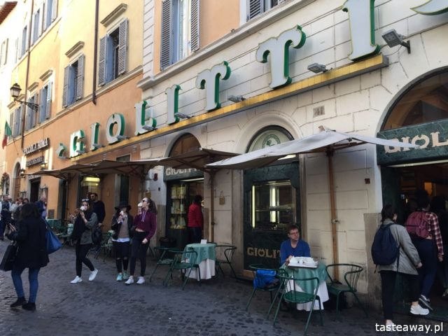 Rzym, lodziarnie w Rzymie, gdzie na lody w Rzymie, gdzie na kawę w Rzymie, najlepsze lody w Rzymie, najlepsza kawa w Rzymie, GIOLITTI