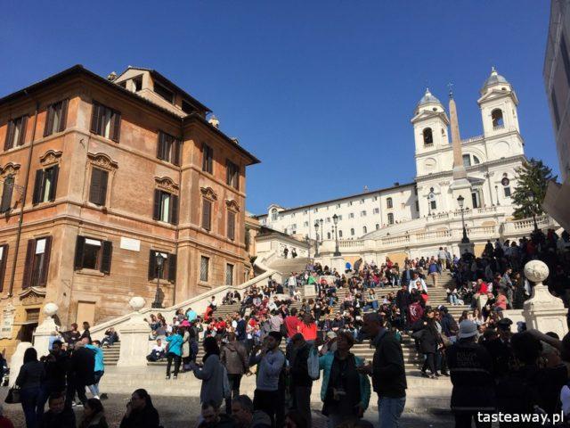 Rzym, lodziarnie w Rzymie, gdzie na lody w Rzymie, gdzie na kawę w Rzymie, najlepsze lody w Rzymie, najlepsza kawa w Rzymie,  Schody Hiszpańskie