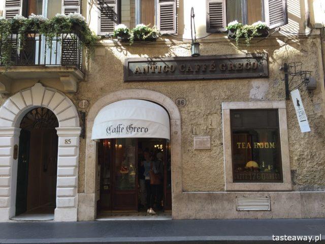 Rzym, lodziarnie w Rzymie, gdzie na lody w Rzymie, gdzie na kawę w Rzymie, najlepsze lody w Rzymie, najlepsza kawa w Rzymie, anticocaffe greco