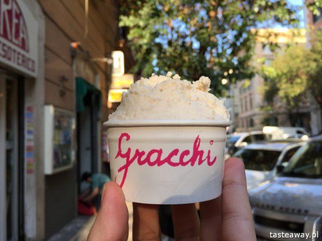 Rzym, lodziarnie w Rzymie, gdzie na lody w Rzymie, gdzie na kawę w Rzymie, najlepsze lody w Rzymie, najlepsza kawa w Rzymie, Gelateria de Gracchi