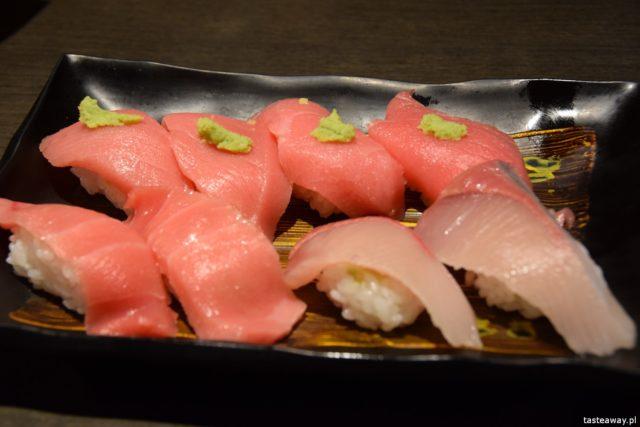 tuńczyk sushi, Chojiro, Kioto, Japonia, co jeść w Japonii