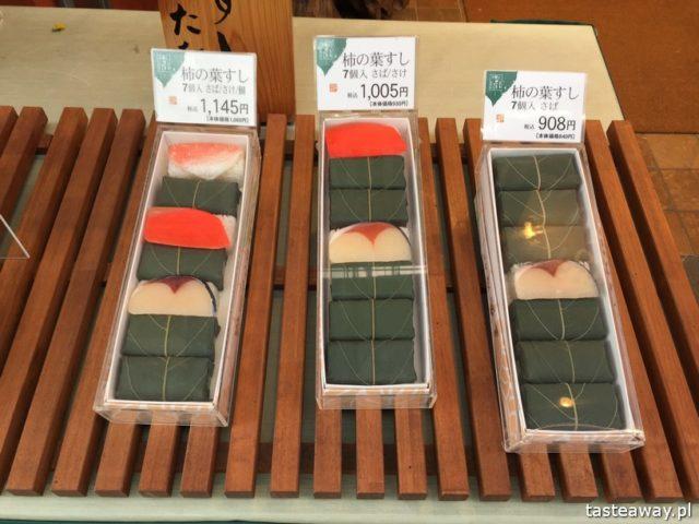 sushi w Japonii, jakie jest sushi w Japonii, jak smakuje sushi w Japonii, nigiri, inari, kaki ha no, persimmon leaf sushi