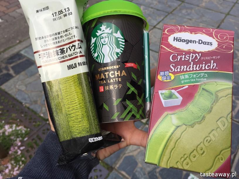 matcha, japońska zielona herbata matcha, matcha latte, Japonia, co jeść w Japonii, japońskie desery, lody z zielonej herbaty, lody matcha