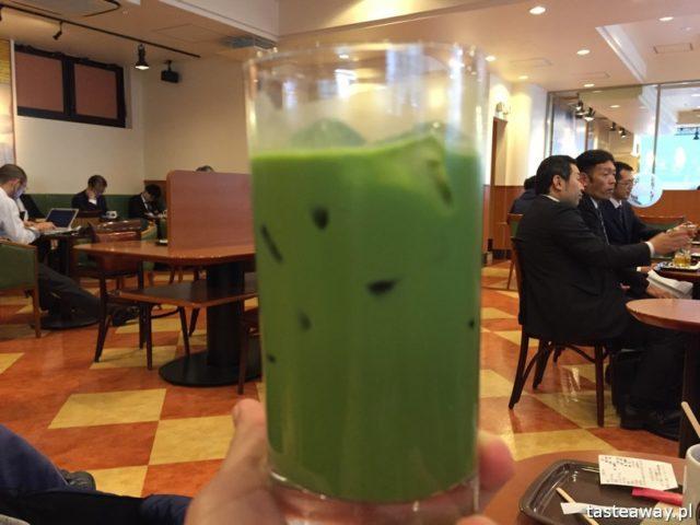 matcha, japońska zielona herbata matcha, matcha latte, Japonia, co jeść w Japonii, japońskie desery, lody z zielonej herbaty, lody matcha, matcha latte, Tokio