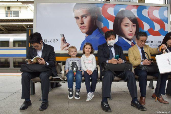 Japonia z dziećmi, dziecko w Japonii, podróżowanie z dziećmi, Japonia, sushi z dziećmi, sushi w Japonii