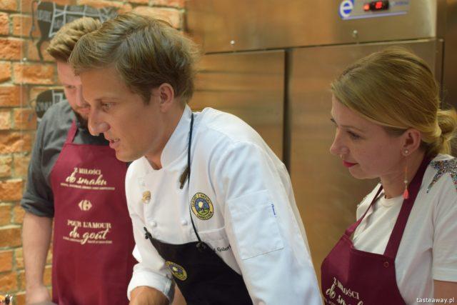 """warsztaty kulinarne,  """"Z miłości do smaku"""" książka Carrefour, David Gaboriaud, kuchnia francuska, gotować po francusku, książka z francuskimi przepisami"""