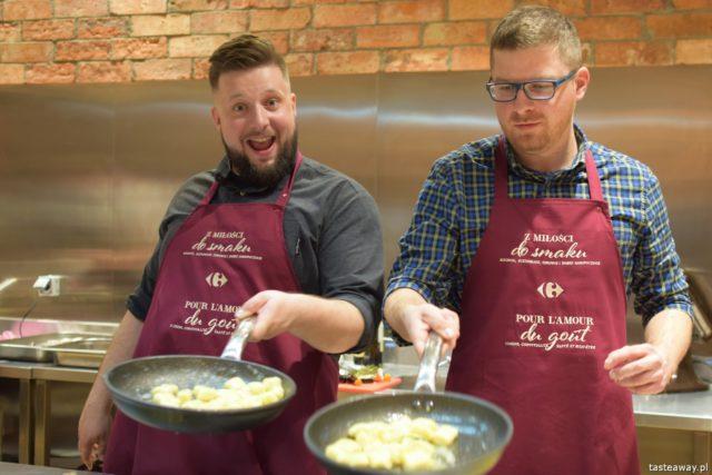 """warsztaty kulinarne,  """"Z miłości do smaku"""" książka Carrefour, David Gaboriaud, kuchnia francuska, gotować po francusku, książka z francuskimi przepisami, Magiczny Składnik, Jaja w Kuchni, blogerzy kulinarni"""