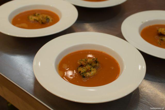 """warsztaty kulinarne,  """"Z miłości do smaku"""" książka Carrefour, David Gaboriaud, kuchnia francuska, gotować po francusku, książka z francuskimi przepisami, bisque z krewetkami"""