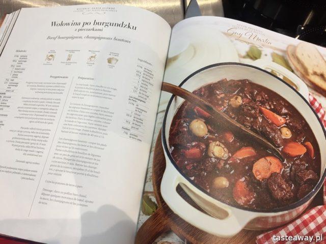 """warsztaty kulinarne,  """"Z miłości do smaku"""" książka Carrefour, David Gaboriaud, kuchnia francuska, gotować po francusku, książka z francuskimi przepisami, wołowina po burgundzku"""