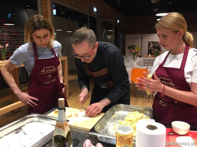 """warsztaty kulinarne,  """"Z miłości do smaku"""" książka Carrefour, David Gaboriaud, kuchnia francuska, gotować po francusku, książka z francuskimi przepisami, Maciej Majewski"""