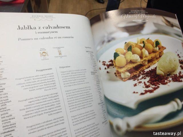"""warsztaty kulinarne,  """"Z miłości do smaku"""" książka Carrefour, David Gaboriaud, kuchnia francuska, gotować po francusku, książka z francuskimi przepisami, jabłka z calvadosem i rozmarynem"""
