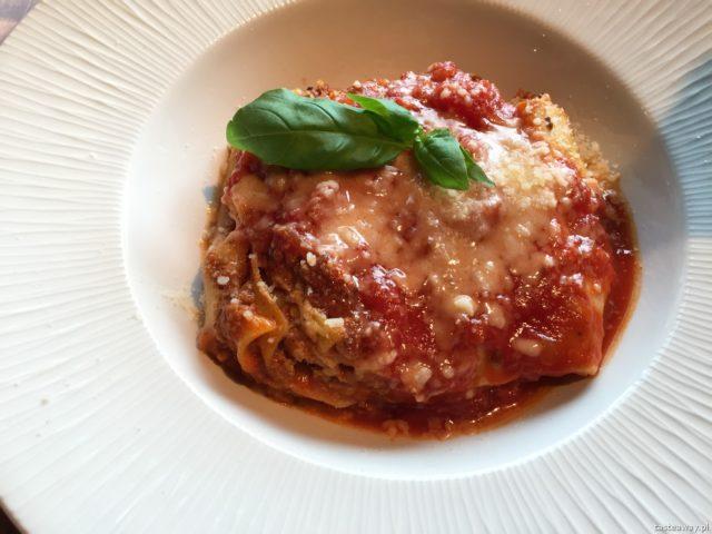 restauracje przyjazne dzieciom, restauracje rodzinne, kuchnia włoska, żoliborz, Pasadena, gdzie na obiad z dziećmi, lasagna