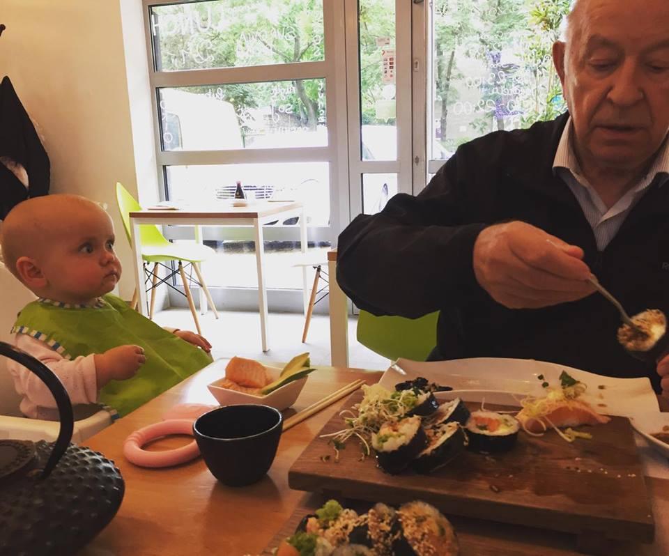 sushi z dzieckiem, sushi dla niemowlaka