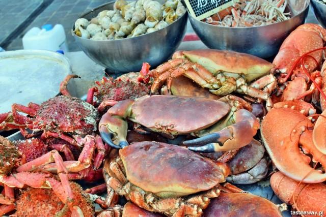 hale targowe, targi z jedzeniem, francuskie targi, targ rybny, Tuluza, Normandia