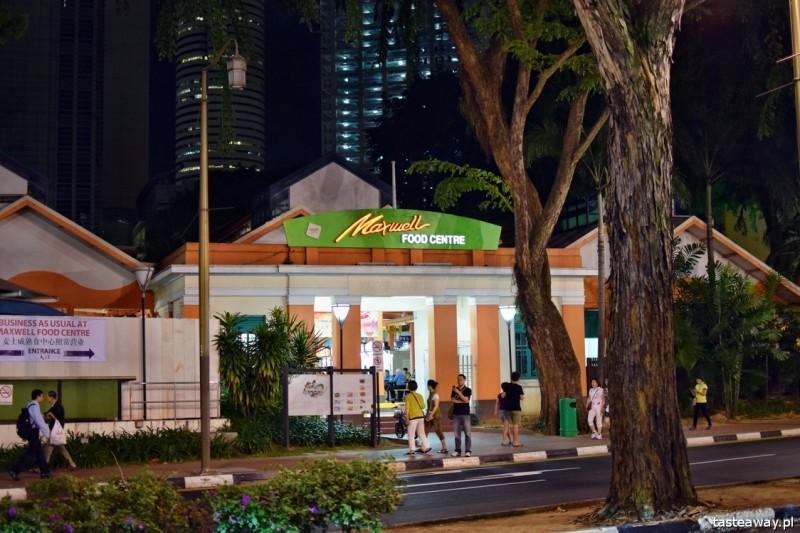 food court, Singapur, hale z jedzeniem, gdzie jeść w Singapurze, co jeść w Singapurze, Maxwell Food Court