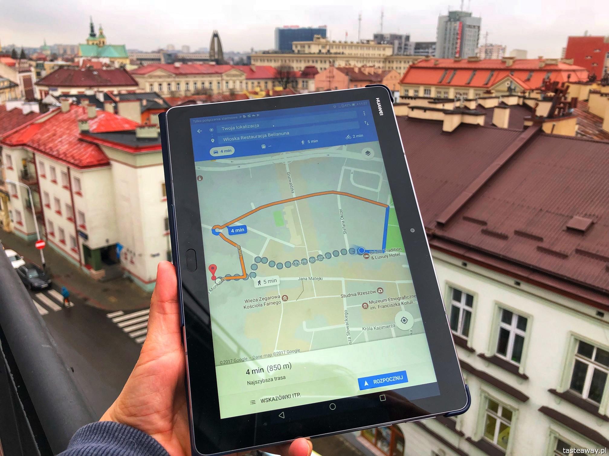 Rzeszów, Podkarpackie, co zobaczyć w Rzeszowie, tablet, Media Pad M3 Lite, Huawei, planowanie podróży