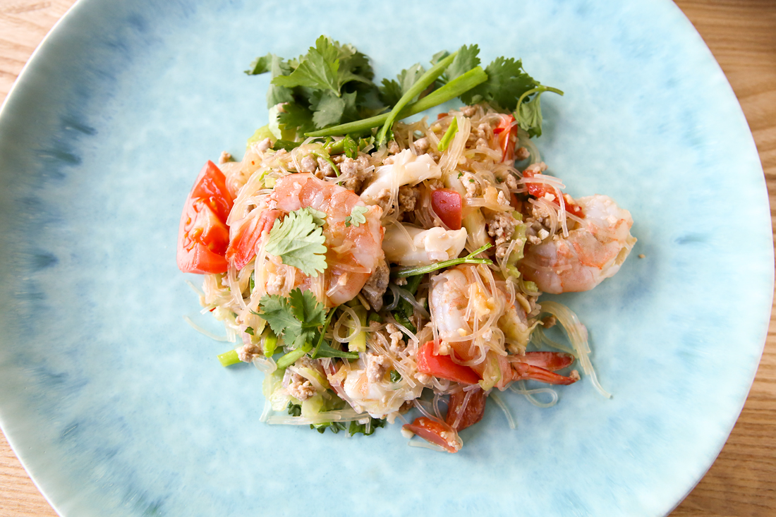 kuchnia tajska, jak zrobić tajskie w domu, yam won seen, tajskie sałatki